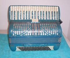 TITANO 120 bass Accordion 3/4 Reeds Blue Accordian G.Cond. Tested and ready