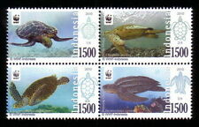 Indonesia 2010 MNH 4v BLk, WWF, Marine Life, Turtles