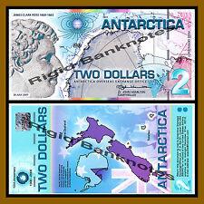 Antarctica $2 Dollars, 30 July 2007 Polymer Unc