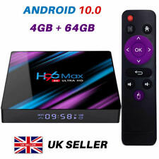 More details for 2021 h96 max android 10.0 tv box 4gb+64gb hd media player 4k 2.4g/5ghz wifi uk