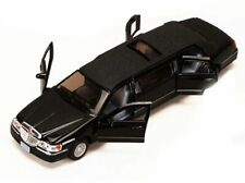1999 LINCOLN TOWN CAR STRETCH LIMOUSINE 1/38 SCALE DIECAST CAR BY KINSMART