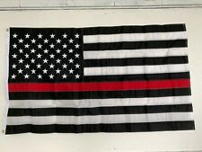 Thin RED Line Flag 3' x 5' Stitched