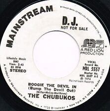 CHUBUKOS boogie the devil in U.S. MAINSTREAM 45rpm_1974 soul/funk MINT PROMO