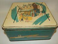 Vintage Cookie Tin - William Stein - Goodie Shop MCM Graphics