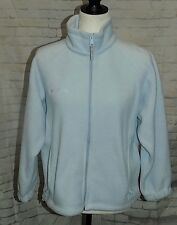 Columbia Sportswear Womens Light Baby Blue Full Zip Fleece Jacket Size PM