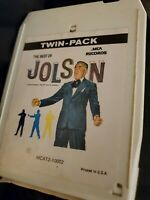The Best Of Al Jolson Twin Pack MCA 8-Track Tape, VG+ Tested