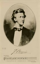 Frederic Chopin Real Photo Postcard of Portrait and Music – Polish Composer