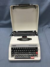OLIVETTI MS 25 Premiere Plus Portable Typewriter w/ Carrying Case VINTAGE
