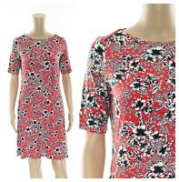 ex M&S Floral Print Casual A-Line Jersey Tunic Dress