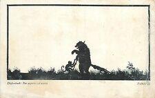 Artist Diefenbach Per aspera ad astra Silhouettes shaddows monkeys bear