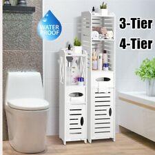 Waterproof Wood Bathroom Cabinet Cupboard Storage Toilet Bath Shelf Furniture UK