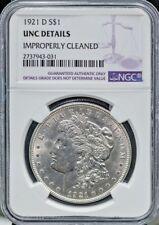 1921-D $1 Morgan Silver Dollar NGC Unc Details Great Strike Free S/H #363