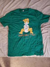 Green Babyfur Furry Diaper Fox Pup Large Men's Shirt