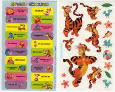 Two Vintage Sandylion Tigger Winnie the Pooh Sticker Sheets - Rewards Teacher