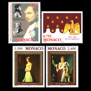 Monaco 2004 - 100th Anniversary of the Crowning of Napoleon I - Sc 2335/8 MNH