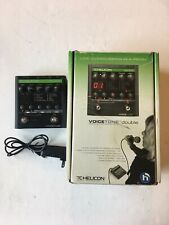 TC Helicon Voice Tone Double Overdubbing Vocal Effect Processor Pedal + Box PSU