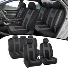 Seat Covers For Car SUV Van New Rome Design Poly Extra Padding Charcoal Fit Set