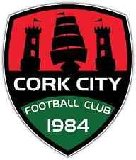 """Cork City FC Ireland Football Soccer Car Bumper Sticker Decal 4""""X5"""""""