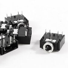 10 Pcs DIP PCB Mount 5 Pins 3.5mm Socket Headphone Stereo Audio Jack LW