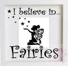 I BELIEVE IN FAIRIES VINYL DECAL STICKER FOR IKEA RIBBA BOXFRAME DIY