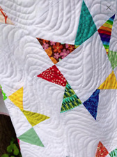 Handmade quilt, bright modern new