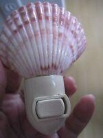 Hawaiian Tropical Night Light Home Bath Island Decor Hawaii Pink Murex Shell NIB