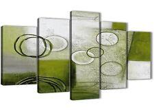 5 PEZZI Lime Verde dipinto astratto ufficio tela Decorazioni - 5434 - 160 cm