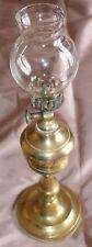 Lampe à huile fin XIXème en bronze ou laiton avec globe en verre