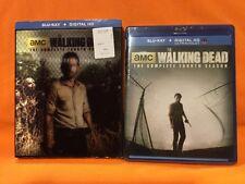 Walking Dead: Season 4 (Blu-ray Disc, 5-Disc )w/ LENTICULAR SLIPCOVER- NEW