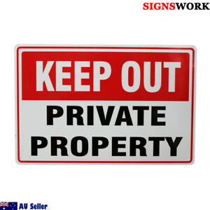 Warning Keep Out Sign 200x300mm Metal PRIVATE PROPERTY Home Safe Notice