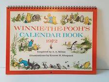 Rare Vintage Leap Year 1972 Winnie-The-Pooh's Calendar Book Excellent!