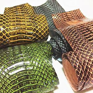 Patent Brushed Snake Skin Hide Leather Snakeskin Craft Supply Shiny 5 colors