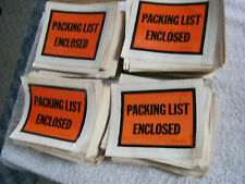 Packing List Enclosed Shipping Pouches     750  Lot