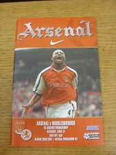14/04/2001 Arsenal v Middlesbrough  (Excellent Condition)