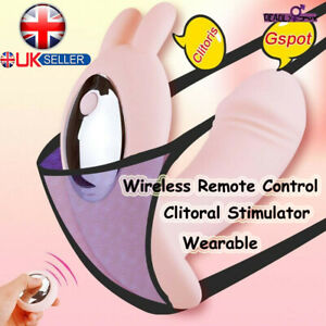 Masturbator Wearable Dildo Vibrator Wireless Remote Clitoral Stimulator Sex Toy