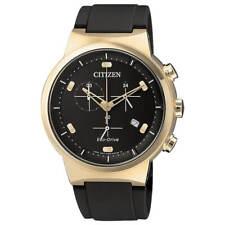 Citizen AT2403-15E para Hombre Eco-Drive Chrono Reloj de oro rosa caso