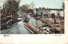 CANAL DE LA VIGA MEXICO POSTCARD (c. 1905)