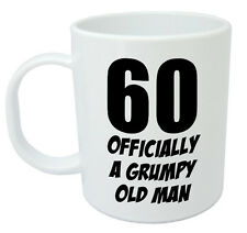 60 Officially A Mug Funny Novelty 60th Birthday Gifts for men women, gift ideas