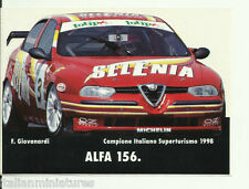 Alfa Romeo 156  Selenia Giovanardi ITC Vintage Sticker Decal x 2 - 15cm x 11cm