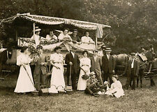 ca 1900's 4TH OF JULY OUTING IN WOODS - LOVELY PHOTO ALBUM WITH 10 PHOTOS