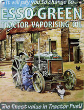 New 30x40cm Esso Green Tractor Oil reproduction large metal advertising sign