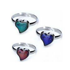 Kids Adult Magic Temperature Emotion Feeling Mood Ring Color Change Heart Shaped