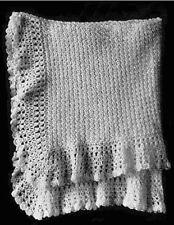 Vintage Baby Shawl Crochet PATTERN (NOT FINISHED ITEM)