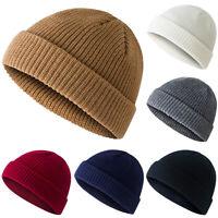Men Women Knit Baggy Beanie Warm Winter Hat Ski Slouchy Fisherman Docker Cap US