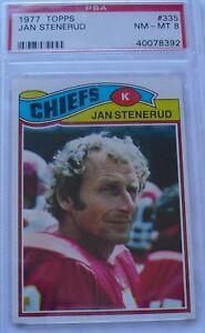 1977 Topps Jan Stenerud #335 Football Card/PSA Graded NM-MT 8