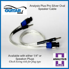 Analysis Plus Pro Silver Oval Speaker cable- 2FT Length- Speakon Plugs