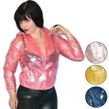 Thick, Soft Vinyl Rain Jacket Size S PVC Shiny Training Jacket See-Through