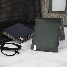 Omnia Men's High Genuine Leather Gentle TIE Cowhide Half Wallet Slim g0822