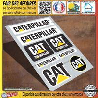 lot 8 Stickers autocollant CATERPILLAR  CAT adhésif tuning planche sponsor