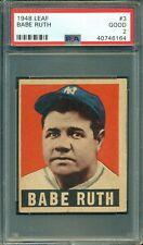 Babe Ruth 1948 Leaf #3 ** PSA 2 ** Baseball Icon - Just Graded/New PSA Logo